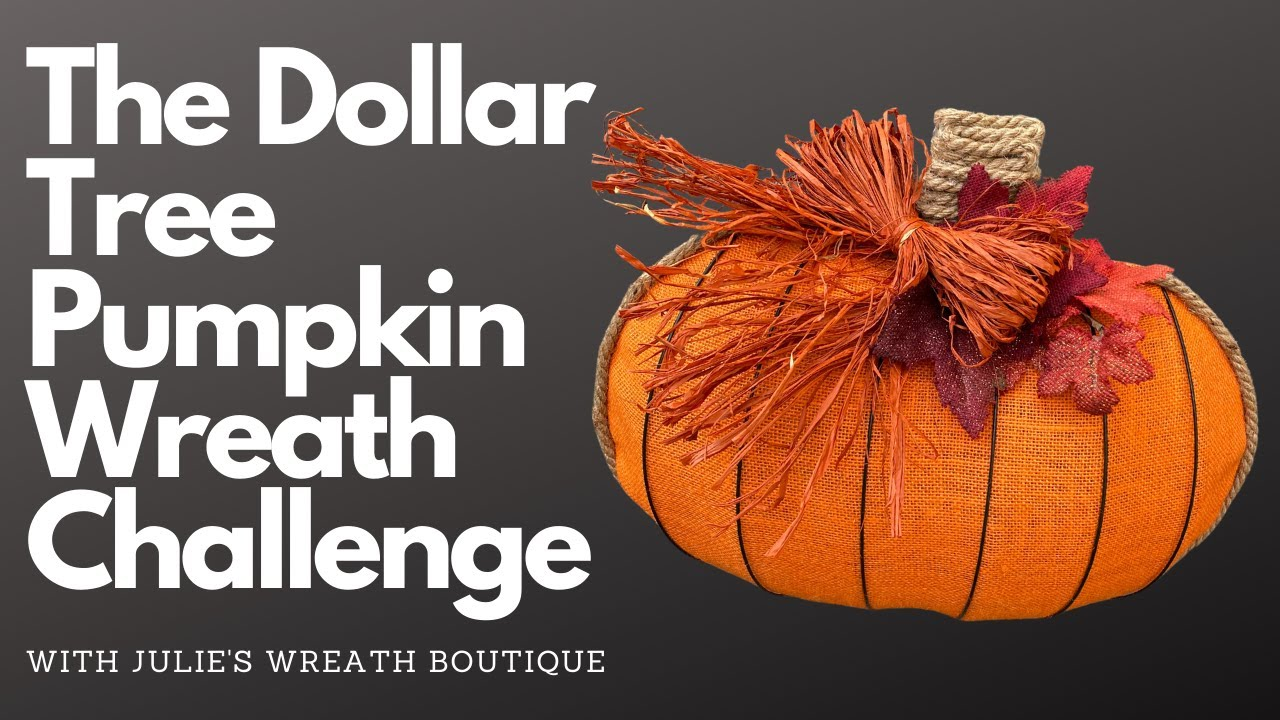 Dollar Tree Pumpkin Wreath -  With This Southern Girl Can, Julie's Wreath Boutique, & A Noble Touch