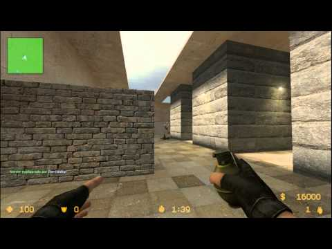 Jugando Al Counter Strike Source Map...