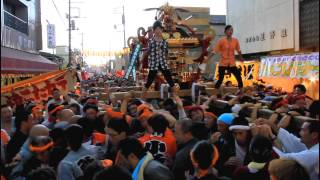 2013年 鷲宮神社 土師祭 本社千貫神輿渡御<雷雨編>(HD)