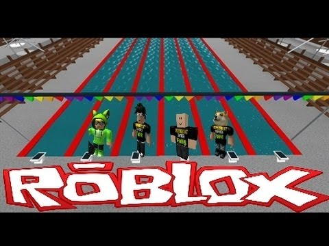 Family Game Nights Plays Roblox Competitive Swimming Youtube