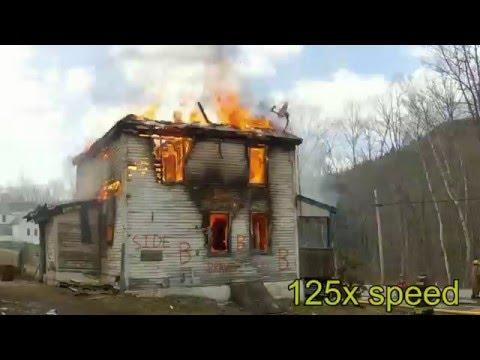 Readsboro VT Live Burn 4-9-2016 High Speed at Beginning