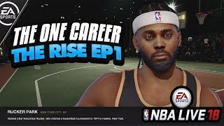 NBA LIVE 18 THE ONE GAMEPLAY! TESTING GIVE & TAKE SIGNATURE ABILITY | Chapter 1: The Rucker Game