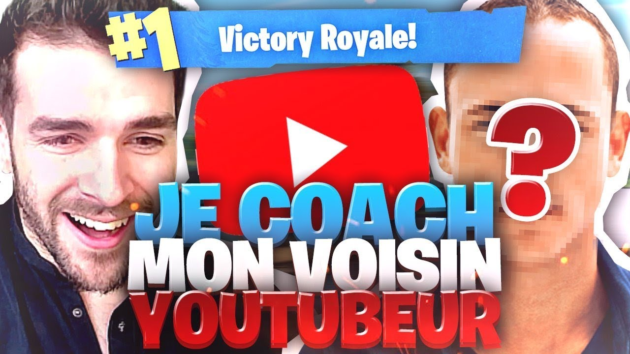TUTO COMMENT FAIRE TOP 1💪🏻JE COACH MON VOISIN YOUTUBER #1 ! (Nouvelle Série) Fortnite