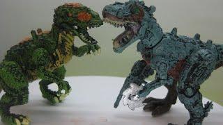 Іграшки Динозаври - Тиранозавр Кіборг vs. Тиранозавр Рекс - БІЙ