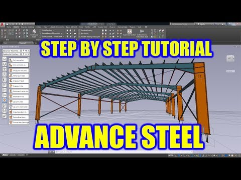 ADVANCE STEEL TUTORIAL - PORTAL FRAME | #structural #detailing #design