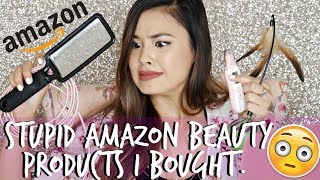 Reviewing Stupid Amazon Beauty Products I've Purchased | Most Relatable Video Ever.