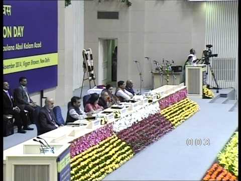Celebration of National Education Day, 2014, Vigyan Bhawan, New Delhi