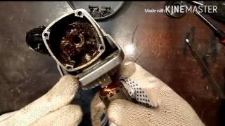 Мелкий ремонт редуктора бюджетной болгарки./ Repair gear grinders.(На этом видео показан ремонт болгарки самой простейшей конструкции без всяких наворотов. При ремонте или..., 2016-05-08T16:29:15.000Z)