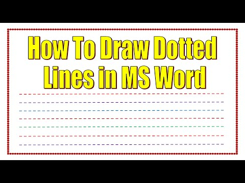 How To Draw Dotted Lines In Microsoft Word