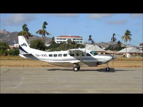 Auric Air arrives at Dodoma Airport, Tanzania  ドドマ空港到着便