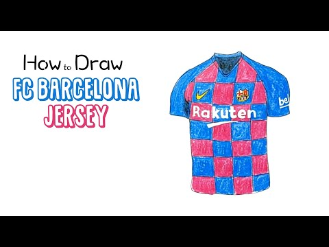 How To Draw The New FC Barcelona Jersey (2019/2020)