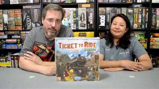 Unboxing of Ticket to Ride Europe by Days of Wonder