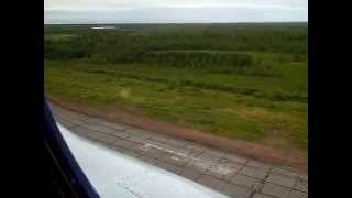 Интинская тундра июль, с борта МИ-8,посадка в аэропорту Инты