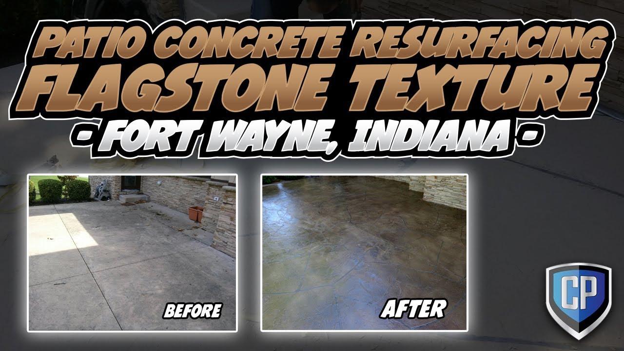 Patio Concrete Resurfacing - Flagstone Texture - Ft Wayne ...