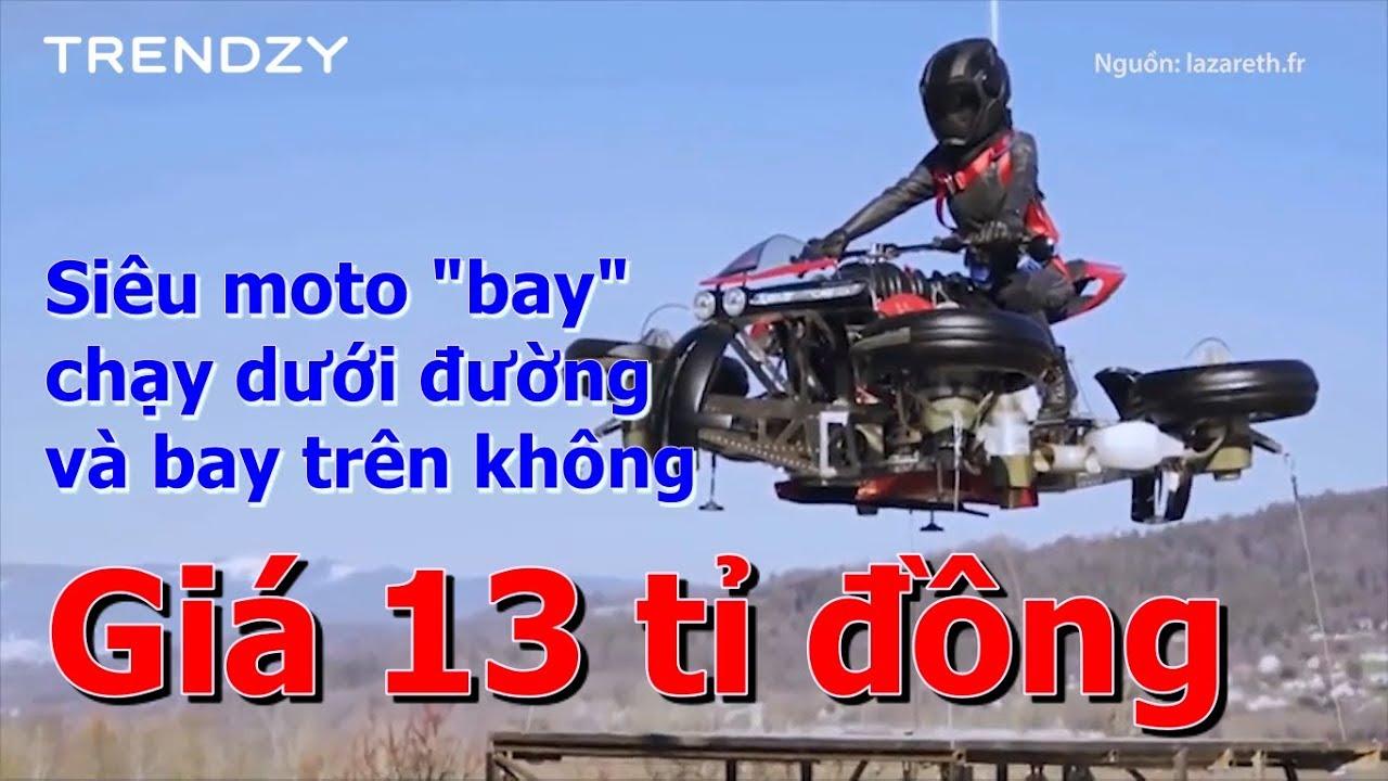 """Siêu """"moto bay"""" LMV496 giá 13 tỉ đồng - Chạy dưới đường và bay trên không"""