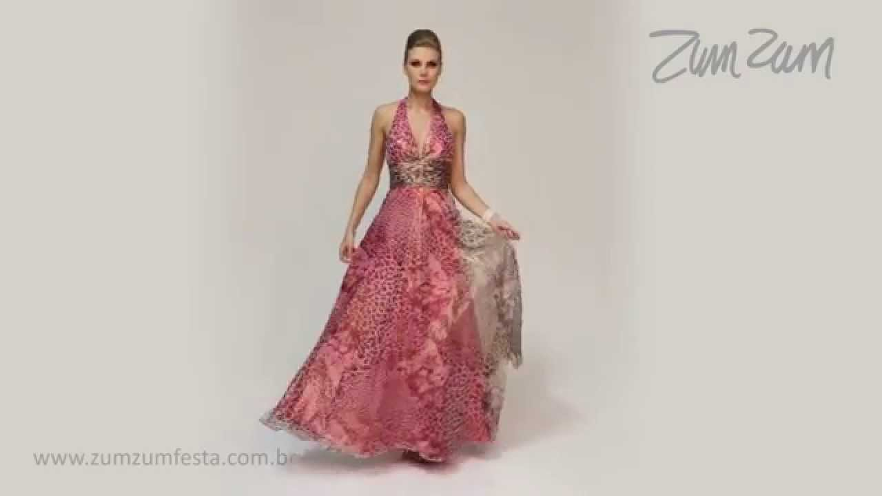 0adbd84557be Vestido longo frente única estampado animal print 101755 - YouTube