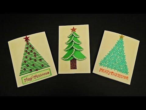 DIY 3 Easy Christmas Cards for Kids | How to Make Christmas Greeting Cards