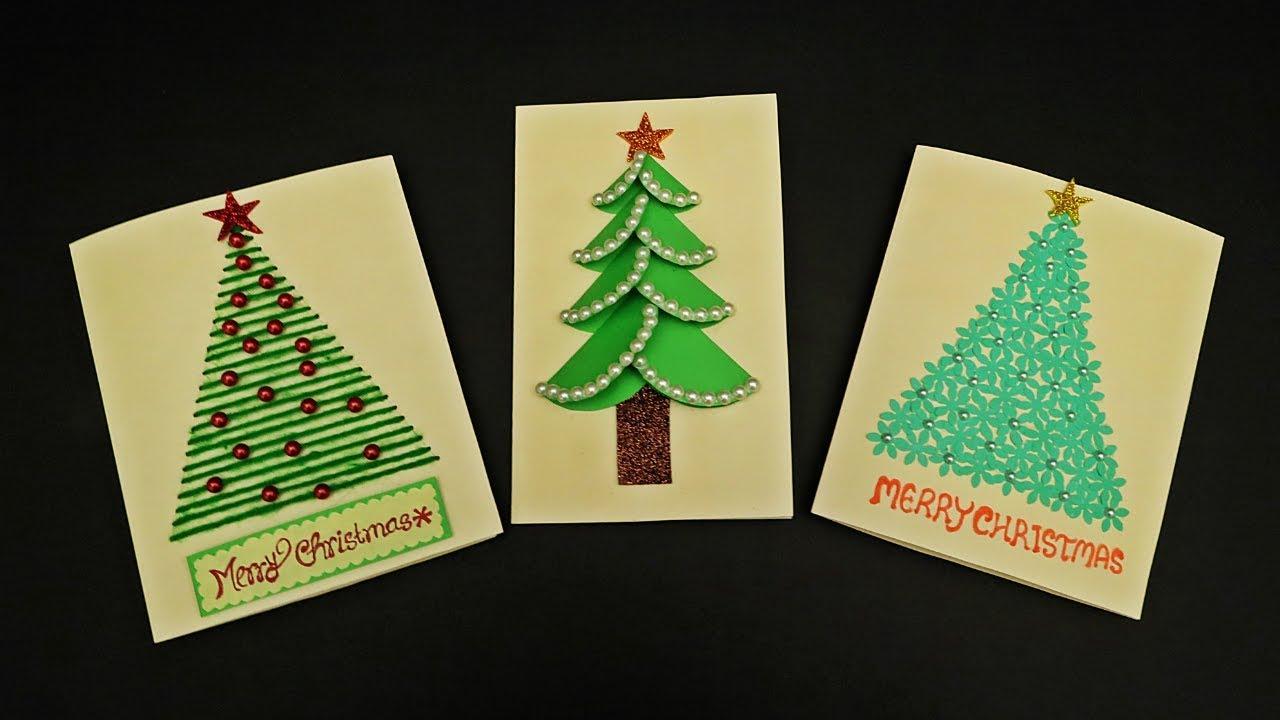 Diy 3 Easy Christmas Cards For Kids How To Make Christmas Greeting