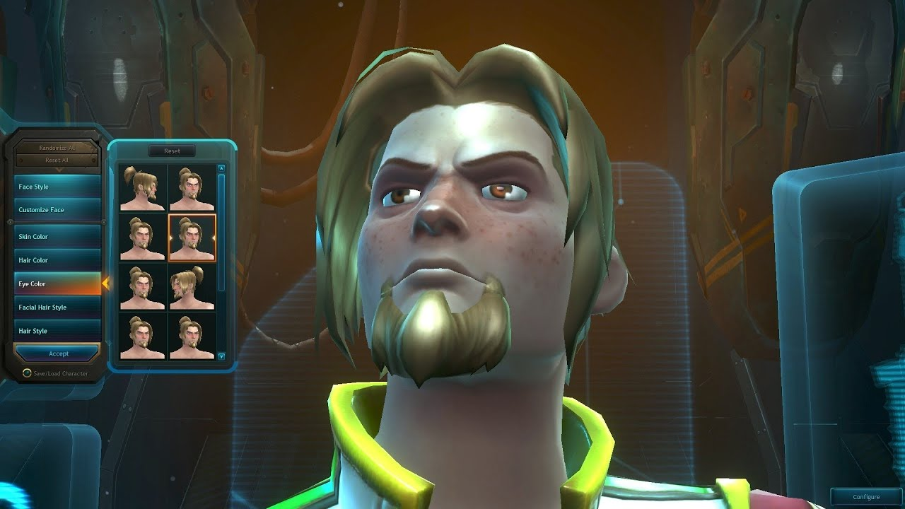 Wildstar: Dominion - Male Cassian Character Creation ...