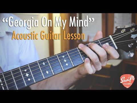 Ray Charles - Georgia On My Mind - Guitar Lesson