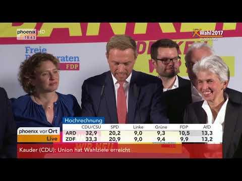 Bundestagswahl 2017: Rede von Christian Lindner zu den vorläufigen Wahlergebnissen vom 24.09.2017
