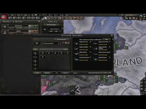 Hearts of Iron 4 - German Motorized Division Historical Template
