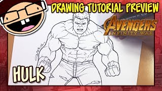 [PREVIEW] How to Draw THE HULK (Avengers: Infinity War) | Drawing Tutorial Time Lapse