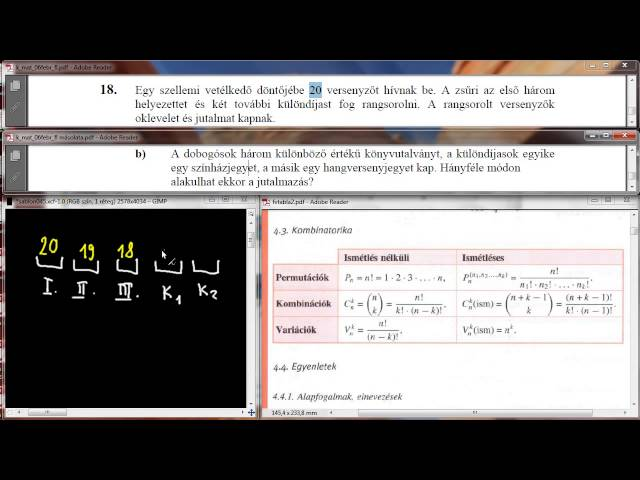 18/b Feladat - Kombinatorika