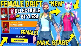 "*NEW* ""FEMALE DRIFT"" Skin CONCEPT Showcase With Leaked Fortnite Emotes..!"