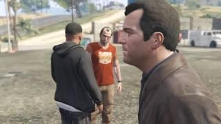GTA 5 Знакомство со Стивом из ФБР Майкл,Франклин и Тревор забирают заложника из здания на вертолете