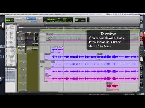 Comping Vocals in Pro Tools 11 - Keyboard Shortcuts - Westlake Pro