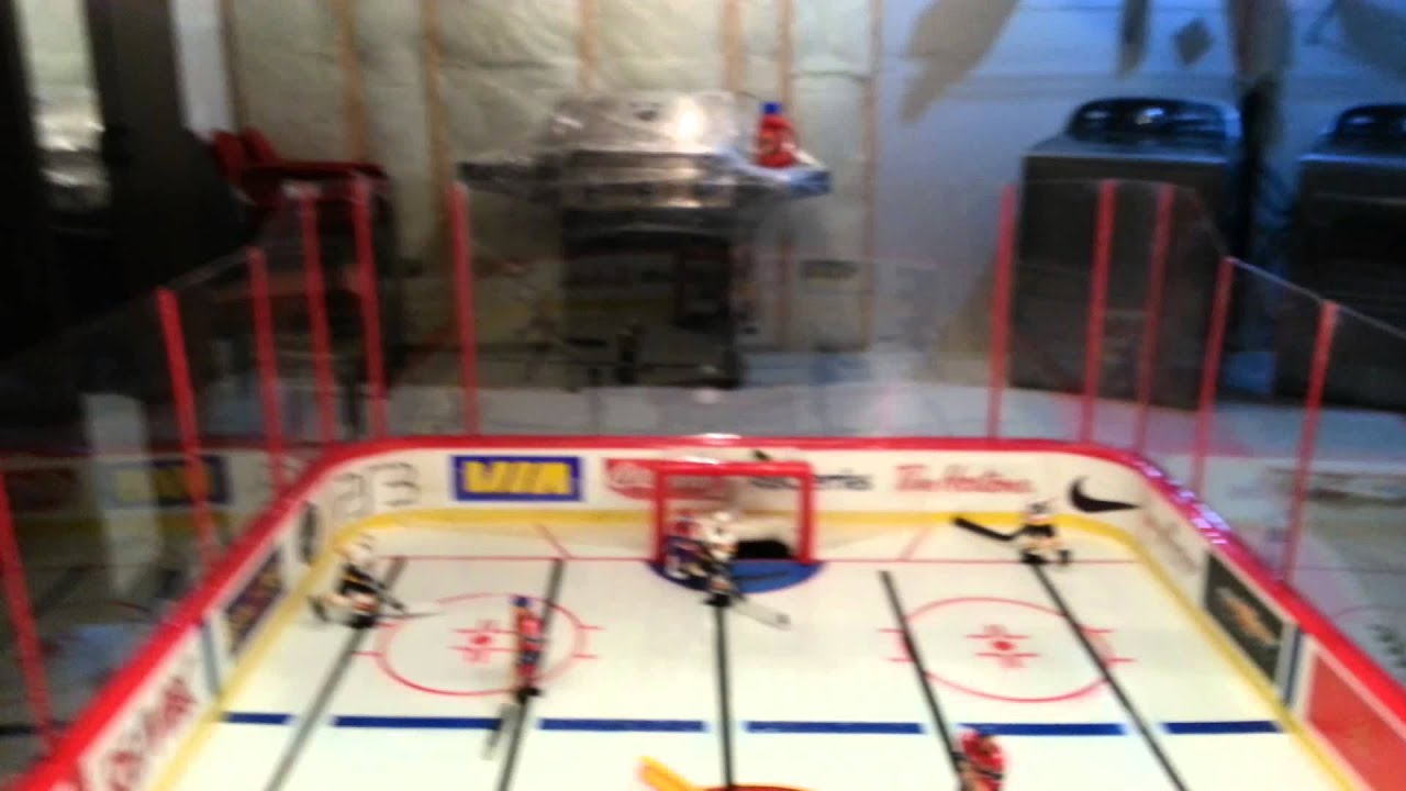 custom table hockey game - YouTube