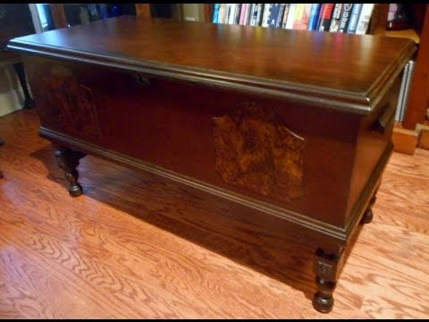Restoration of an early Roos cedar chest
