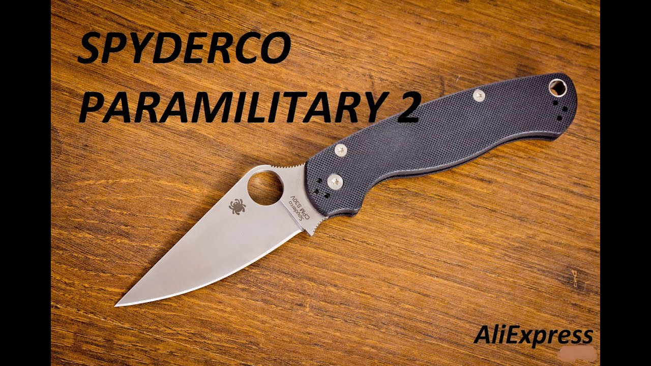Нож paramilitary 2 orange Китай купить - YouTube