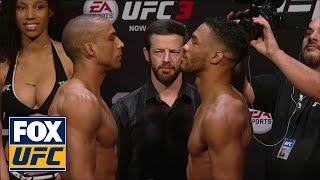 Edson Barboza vs Kevin Lee face-off | WEIGH-IN | UFC FIGHT NIGHT