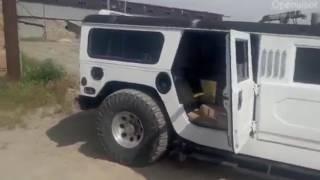 Погрузка кирпича в ХАММЕР лимузин ХАМЕР