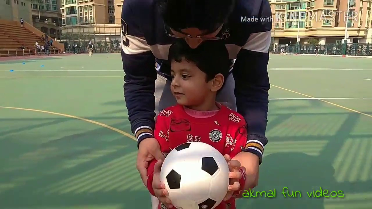 Kids Playing Football || Akmal Fun Videos||Love Ryan Toys & Blippi Toys