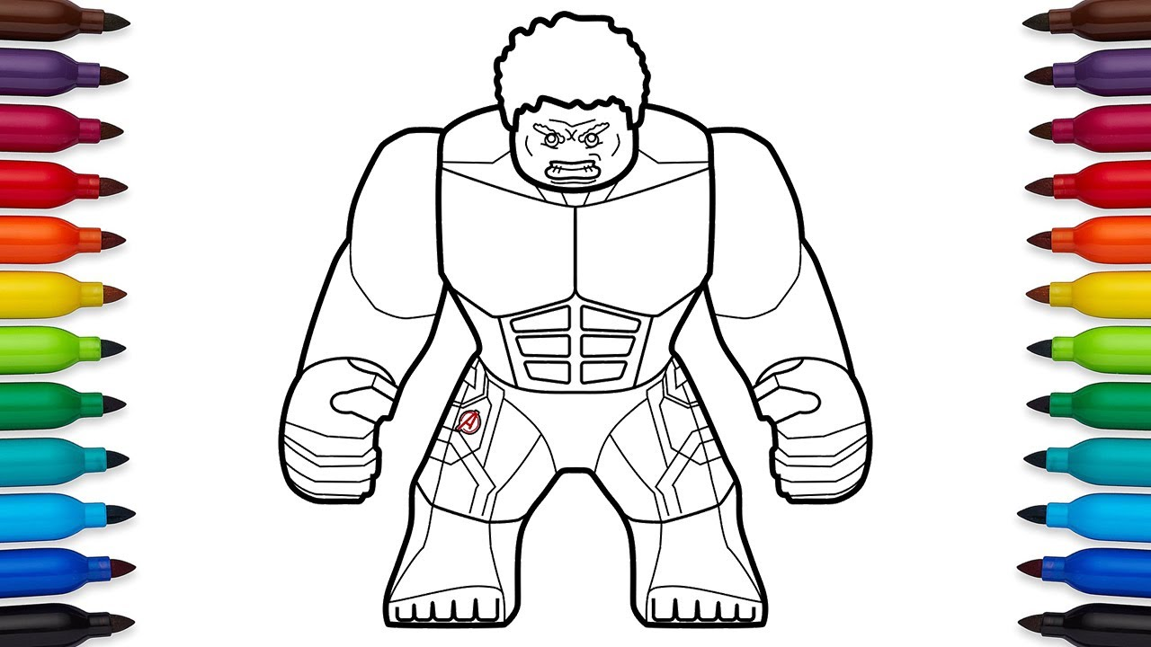 Elegant How To Draw Lego Hulk Avengers Age Of Ultron   Marvel Superheroes   Coloring  Pages