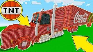 Minecraft Battle - NOOB vs PRO : BIGGEST TNT COCA COLA TRUCK IN MINECRAFT ! (Animation)