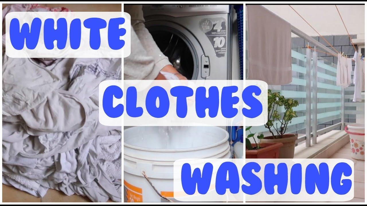 how to wash white clothes with in washing machine