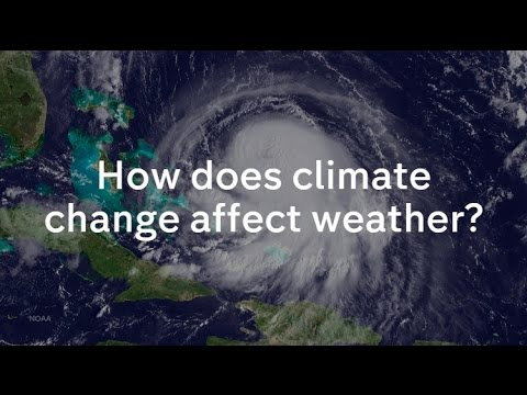 How does climate change affect our weather? Liam Dutton explains
