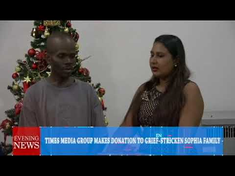 TIMES MEDIA GROUP MAKES DONATION TO GRIEF STRICKEN SOPHIA FAMILY-12-22-