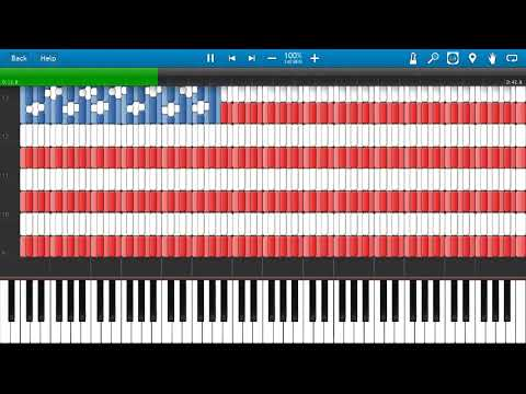 United States flag in synthesia (midi art)