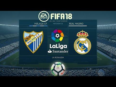 FIFA 18 Málaga vs Real madrid   La Liga 2017/18   PS4 Full Match