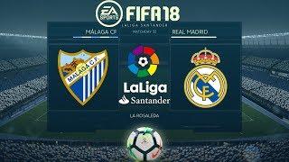 FIFA 18 Málaga vs Real madrid | La Liga 2017/18 | PS4 Full Match