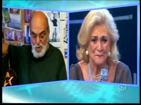 SBT Repórter - Lima Duarte lê texto para homenagear Hebe