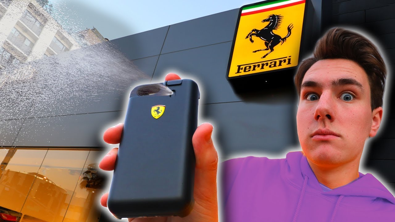 Guess What This Ferrari Iphone Case Can Do Youtube