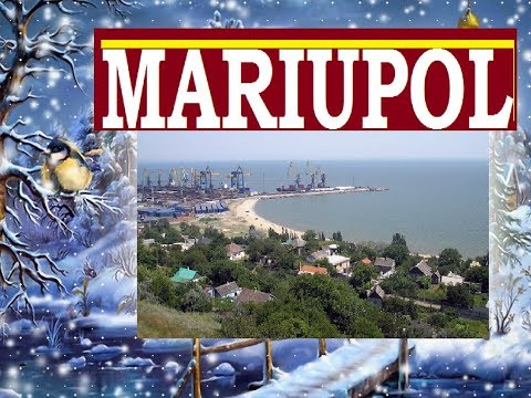 Best beach in Ukraine Mariupol city in winter 2018 -  Sea of Azov