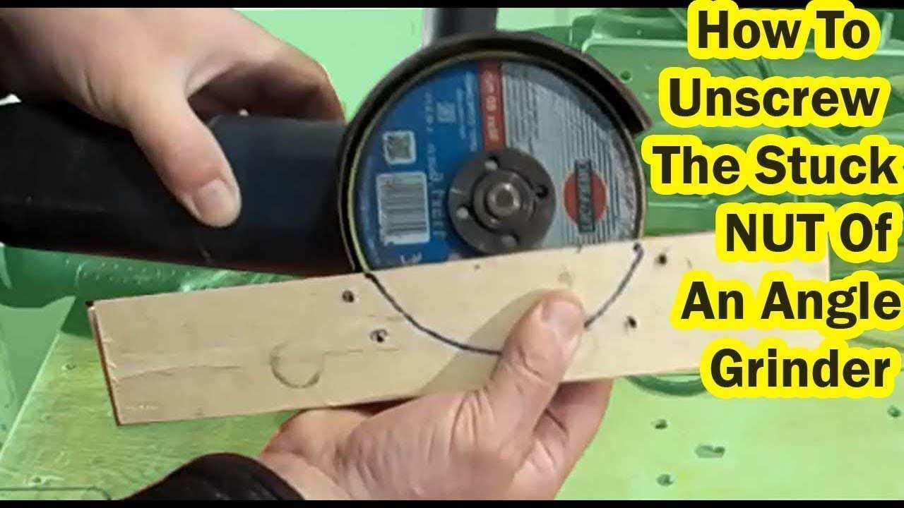 How To Remove Stuck NUT Of An Angle Grinder   Very Simple