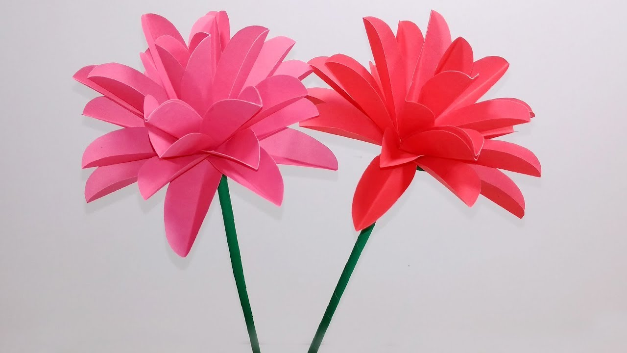 Stick Flower Ideashow To Make Stick Flowerstick Paper Flower Step